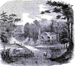 Lumber from the sawmill brought wealth to the settlement.