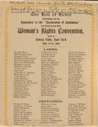 Lucretia Mott was instrumental in gathering 300 people together for the first women's rights convention in Seneca Falls.