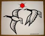 Geese by Michael Chokomoolin