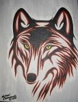 Wolf 9 11 by Michael Chokomoolin